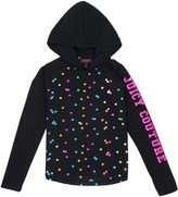 Juicy Couture Girls Holographic Foil Dot Knit Top