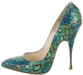 Brian Atwood Embossed Leather Pumps