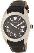 Versace Men's V-Sport Croc Embossed Leather Strap Watch, 42mm