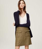 LOFT Linen Safari Skirt