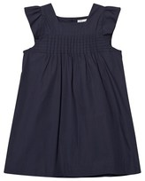 Cyrillus Navy Smock Front Cotton Dress