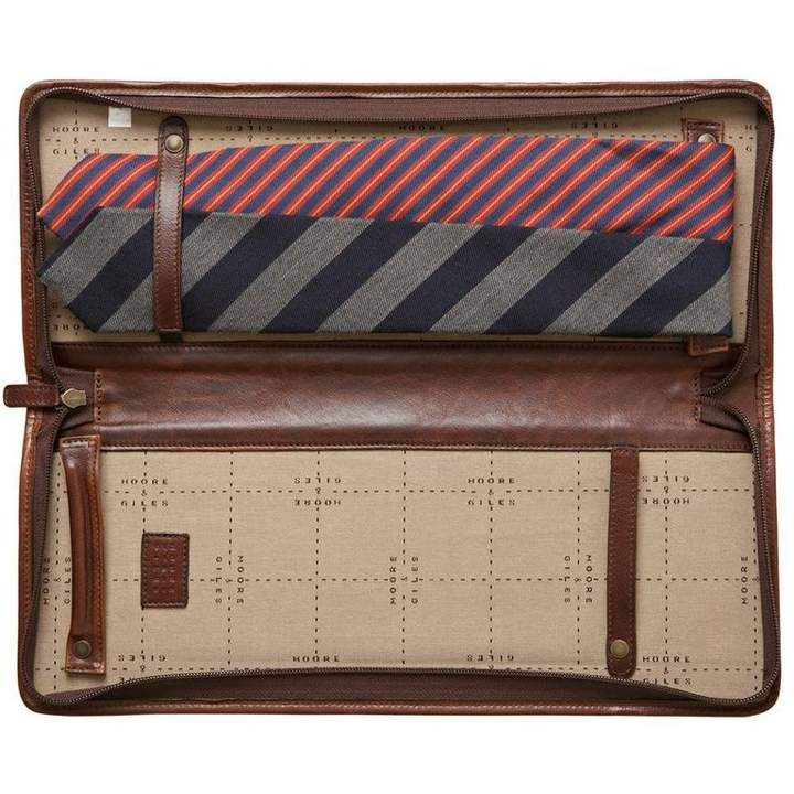 "Moore & Giles Fine Leather Tie Case ""Evans"""