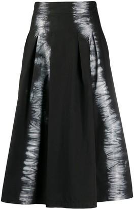 MSGM tie-dye A-line skirt