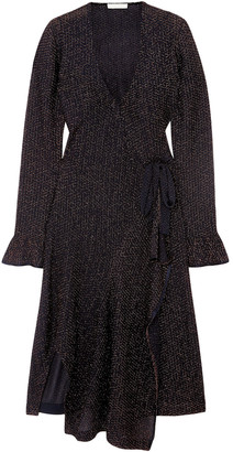 Chloé Embroidered Knitted Wrap Dress