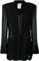 DKNY sheer panelled blazer - women - Viscose - XS