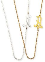 Jennifer Zeuner Jewelry Mini Initial Necklace