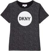 DKNY Black Speckled Logo Tee