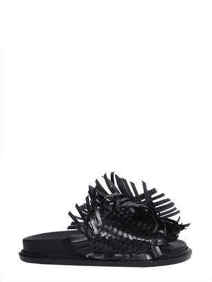 MM6 MAISON MARGIELA Woven Leather Slide Sandals