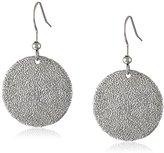 Karen Kane Sandy Beach Disc Silver Drop Earrings