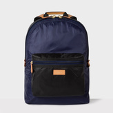Paul Smith Men's Black And Blue Backpack