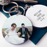 Sarah Hurley Personalised Wedding Photo Message Keyring