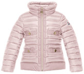 Moncler Obioma Zip-Front Puffer Jacket, Pink, Size 4-6