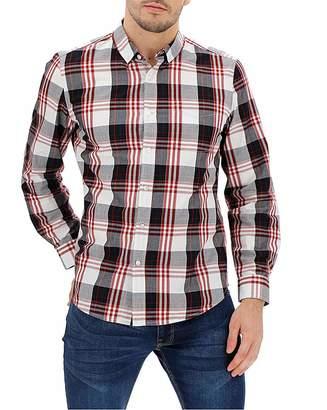 Jacamo Navy Check Long Sleeve Shirt