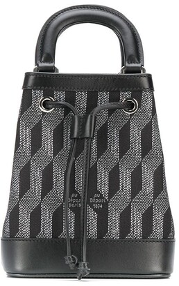 Au Départ Geometric-Pattern Bucket Bag