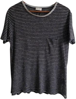 Saint Laurent Black Linen T-shirts