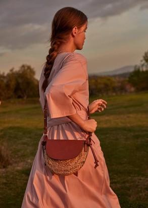MANGO Jute cross-body bag medium brown - One size - Women