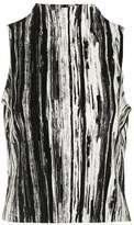 Petite scratch stripe top