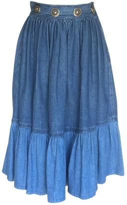 Philosophy di Alberta Ferretti Blue Denim - Jeans Skirt for Women Vintage