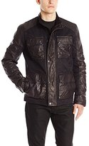 Lucky Brand Men's Wax Leather Jacket