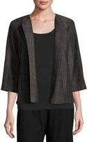 Eileen Fisher Kurume Dash Organic Cotton Jacket, Black, Petite