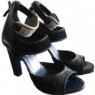 The Kooples Black Leather Sandals