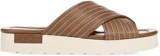 Vince Camden Criss-Cross Leather Platform Slides