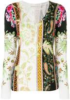Etro mixed print sweater