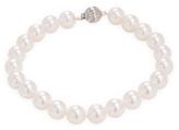 14K White Gold & Akoya Cultured Pearl Bracelet
