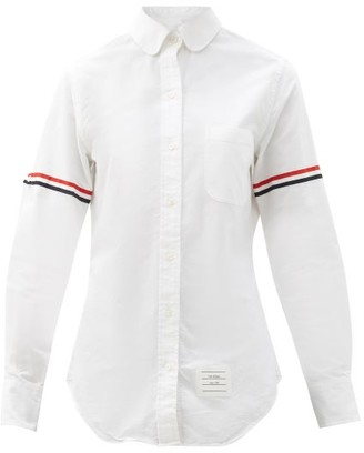 Thom Browne Oversized Penny-collar Cotton-oxford Shirt - White