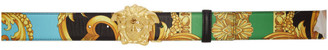 Versace Reversible Multicolor Man Of Baroque Belt