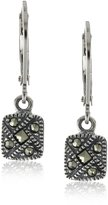 Judith Jack Sterling Marcasite Square Drop Earrings