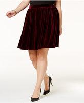 Soprano Trendy Plus Size Velvet Skirt