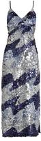House of Holland Sequin-embellished slip dress