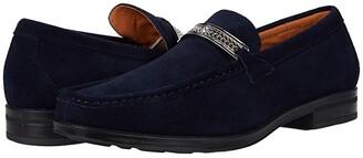 Stacy Adams Reginald Suede Slip-On Loafer (Black) Men's Shoes