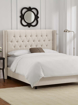 Skyline Furniture Diamond Tufted Nail Wingback Bed