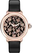 Glam Rock Women's Bal Harbour 40mm Leather Band Rose Gold Plated Case Quartz Analog Watch GR77020N