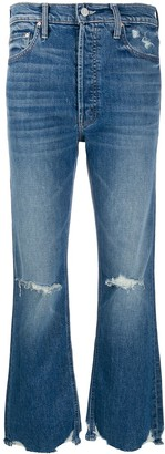Mother ripped flared jeans