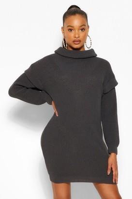 boohoo Shoulder Detail Jumper Dress