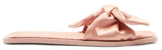 Carlotha Ray Arielle Knotted Square-toe Satin Slides - Pink