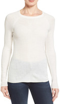 Halogen Ribbed Merino Blend Lightweight Top (Petite)