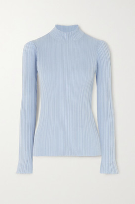 Acne Studios Ribbed Cotton-blend Sweater - Sky blue