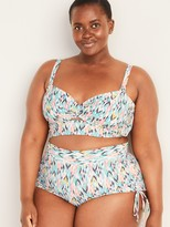 Old Navy Twist-Front Plus-Size Printed Bandeau Swim Top