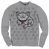 Big Bang Theory Pixel Soft Kitty Juniors V-Neck Sweater | M