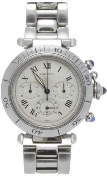 Cartier Stainless Steel 38mm Pasha Chronograph Unisex Quartz Watch