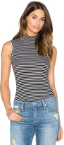 ATM Anthony Thomas Melillo Striped Sleeveless Mock Neck Tank