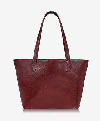 GiGi New York Original Teddie Tote, Burgundy Croix Grain Leather