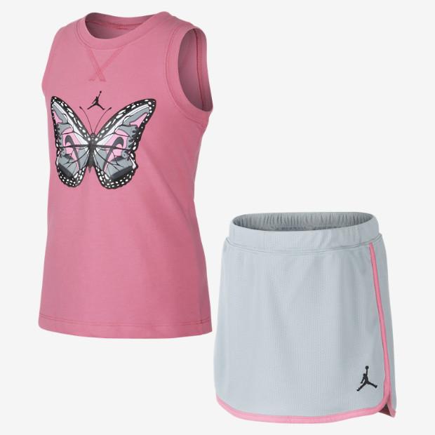 Nike Jordan AJ Butterfly Wings Two-Piece Preschool Girls' Set