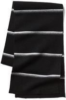 Merino wool blend stripe ski scarf