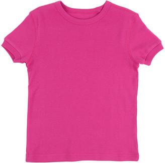 Leveret Girls' Tee Shirts Magenta - Magenta Crewneck Tee - Toddler & Girls