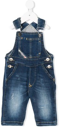 Diesel Straight-Leg Denim Dungarees